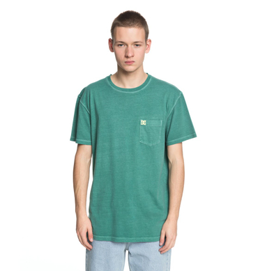 DC Herren T-Shirt Dyed Pocket Cre (Deep Sea) – Bild 1