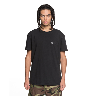 DC Herren T-Shirt Dyed Pocket Cre (Black) – Bild 1