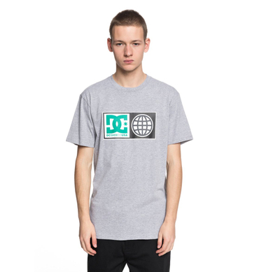DC Herren T-Shirt Global Salute (Grey Heather) – Bild 1