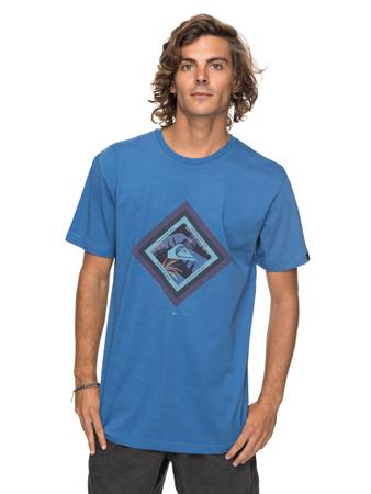 Quiksilver Herren T-Shirt Classic Crimson Skyline (Bright Cobalt) – Bild 1