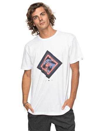 Quiksilver Herren T-Shirt Classic Crimson Skyline (White) – Bild 1