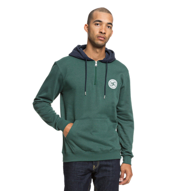 DC Herren Hoodie Rebel Ph Half Z (Hunter Green) – Bild 1