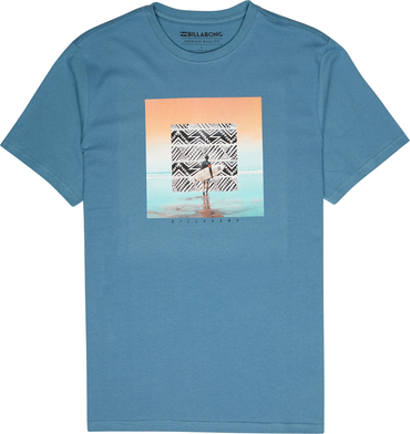Billabong Herren T-Shirt FRAMED TEE SS (Washed Blue)