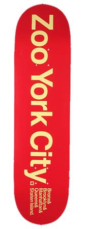 Zoo York Zoo York City Red 8,125 Deck