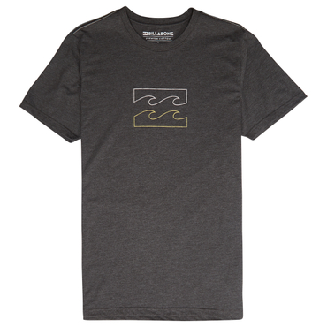 Billabong Herren T-Shirt WAVE TEE SS (Black Heather)
