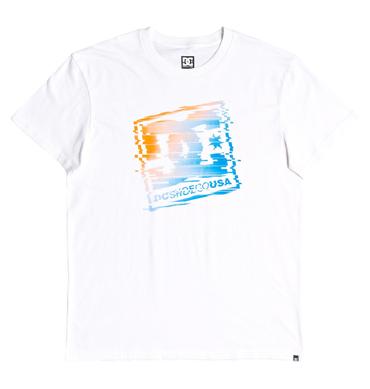 DC Herren T-Shirt Tv Glitch (Snow White) – Bild 1
