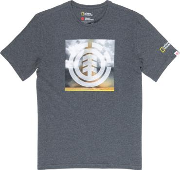 Element Herren T-Shirt Combust Icon Ss (Charcoal Heathe)