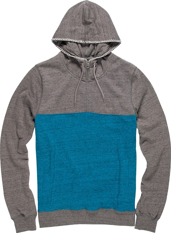 Element Herren Hoodie MERIDIAN 1/4 ZIP (Moroccan Blue) 001