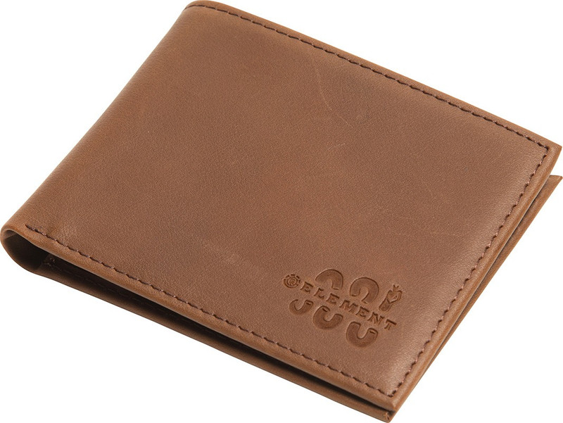 Element Herren Geldbeutel BOWO LEATHER WALLET (Brown) 001