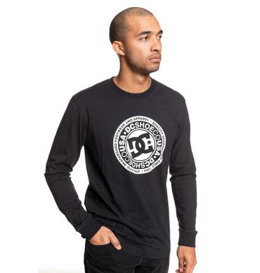 DC Herren Longsleeve CIRCLE STAR LS (Black/White) – Bild 1