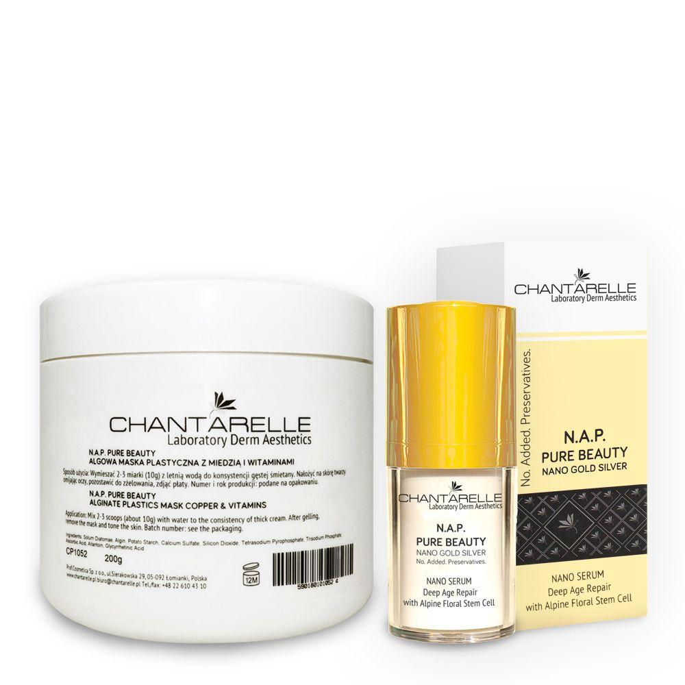[Bundle] N A P  PURE BEAUTY Skin care set: Alginate mask & Serum Deep Age  Repair