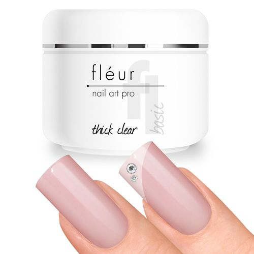 Fléur Basic UV Gel Thick Clear / Aufbaugel dickviskos 15g