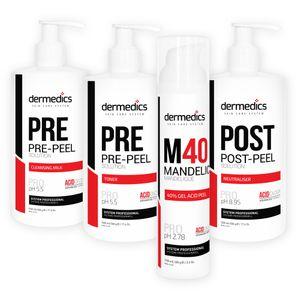 Dermedics Säurepeeling-Komplettset: M40 Mandelic Peel 40% + Zubehör – Bild 1