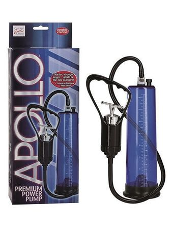 Apollo Premium Power Pump Blue: Penispumpe