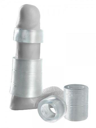 Fantasy X-Tensions Girth Gainer System: Penisringe-Set, transparent