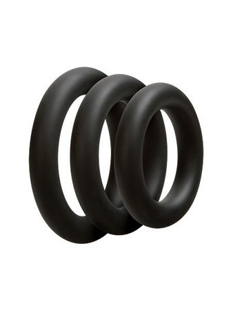 OptiMale 3 C-Ring Set Thick: Penisringe-Set, schwarz