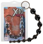 Analkugelstrang Analkette Analplug X-10 Beads black