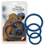 Penisring Sexy Circles Cockring Set blue