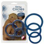 Penisring Sexy Circles Cockring Set blue
