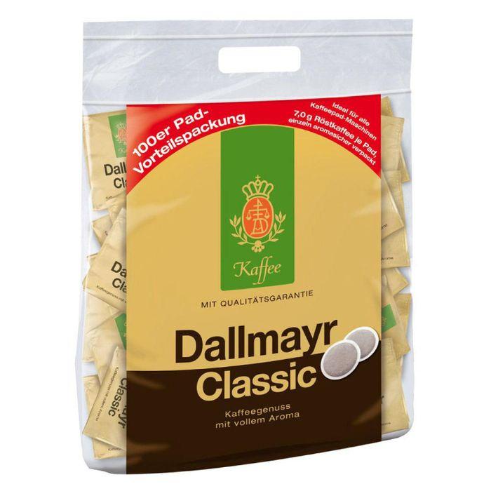 Dallmayr Kaffeepads Classic, Kaffee Pads für Padmaschinen, Vollaromatisch und Kräftig, 100 Pads