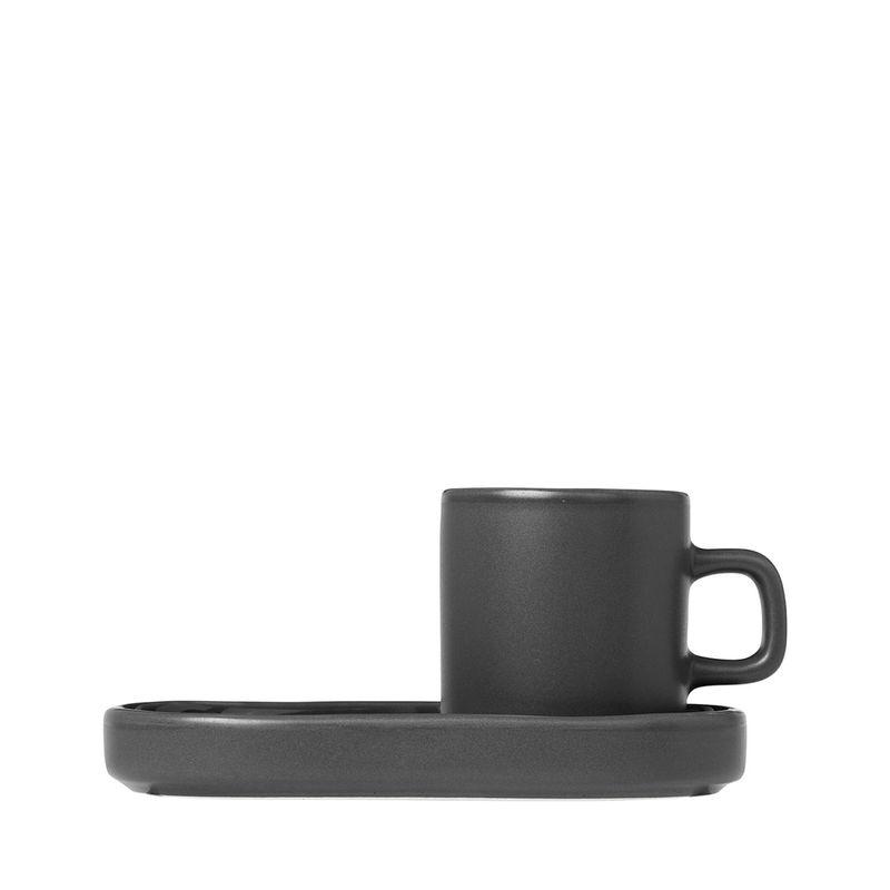 Agave Green Keramik H6cm T7.5cmØ 5cm blomus Pilar Set 2 Espressotassen 4tlg