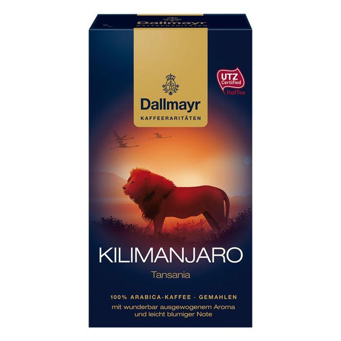 Dallmayr Kilimanjaro Tansania, Kaffee Raritäten, Gemahlener Röstkaffee, Blumige Note, 6 x 250 g