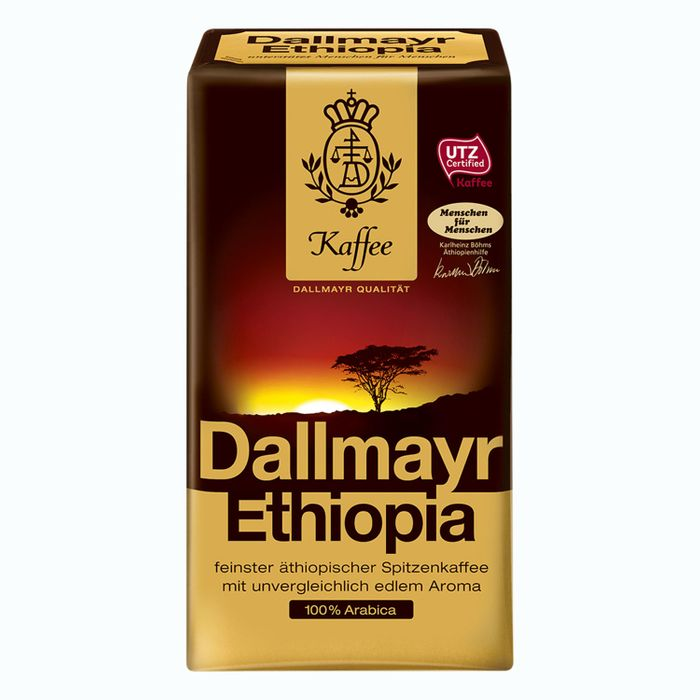 Dallmayr Ethiopia, Gemahlener Kaffee, Filterkaffee, Röstkaffee, 100% Arabica, 12 x 500 g