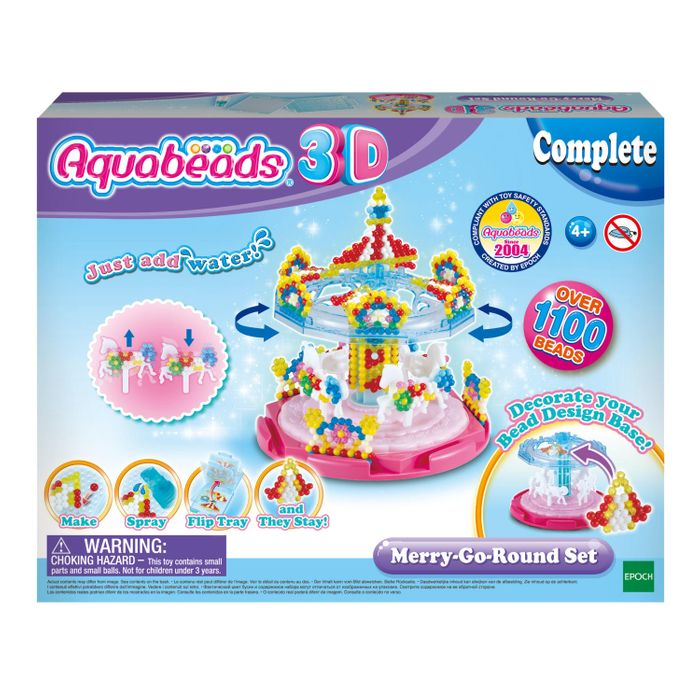 Aquabeads 3D Tier Set Basteln Bastelset Perlen Tiere Bastelplatte 79908