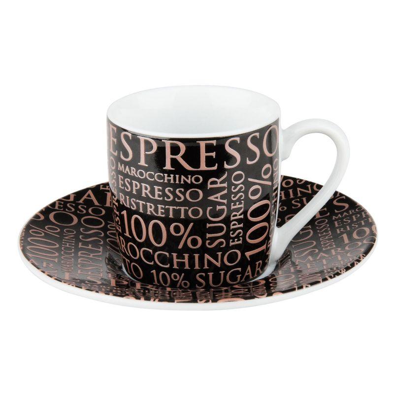 Könitz 100/% Coffee rosé White Espresso Set 2 Pièces Tasse Tasse sous tasse 85 ml
