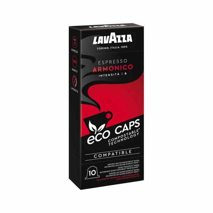 Lavazza Eco Kaffeekapseln Espresso Armonico, Nespresso kompatibel, Kaffee Kapsel, 10 Kapseln