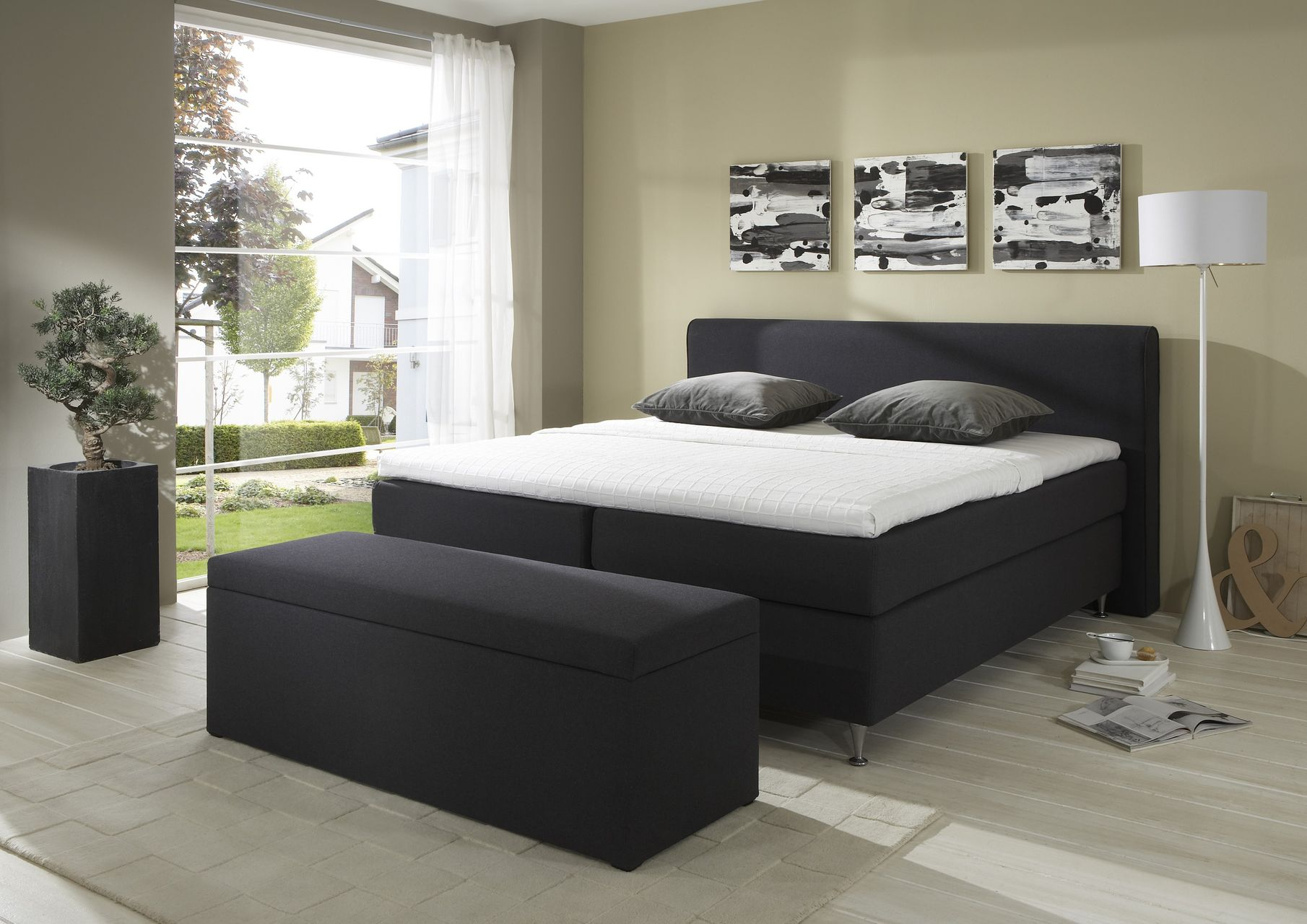 boxspringbett crown plaza. Black Bedroom Furniture Sets. Home Design Ideas
