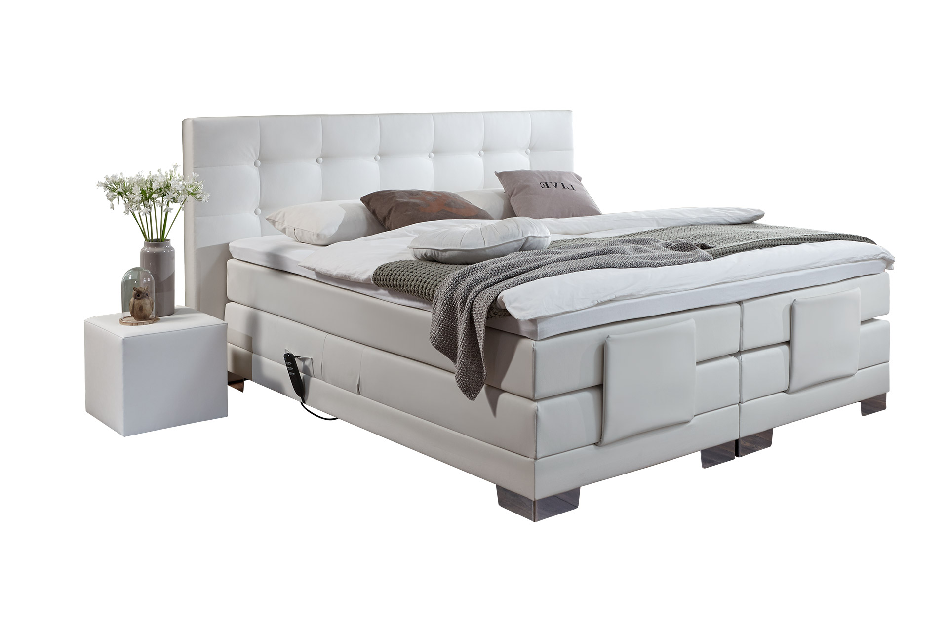 boxspringbett elektrisch verstellbar swiss diamond. Black Bedroom Furniture Sets. Home Design Ideas
