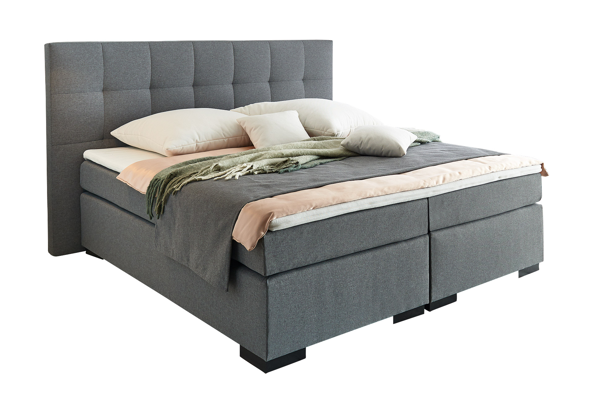 Belvandeo monaco amerikanisches boxspring bett 7 zonen for Betthusse boxspring bett