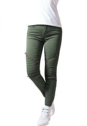 Urban Classics Damen Jeans Stretch Biker Pants 004