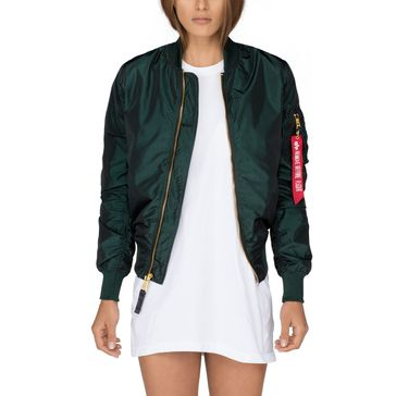 Alpha Industries Damen Jacke MA-1 LW PM Iridium Wmn 005