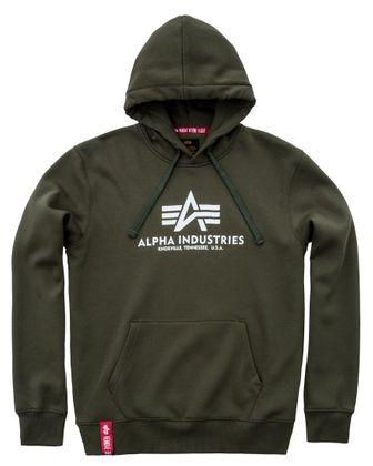 Alpha Industries Herren Kapuzenpullover Basic 004