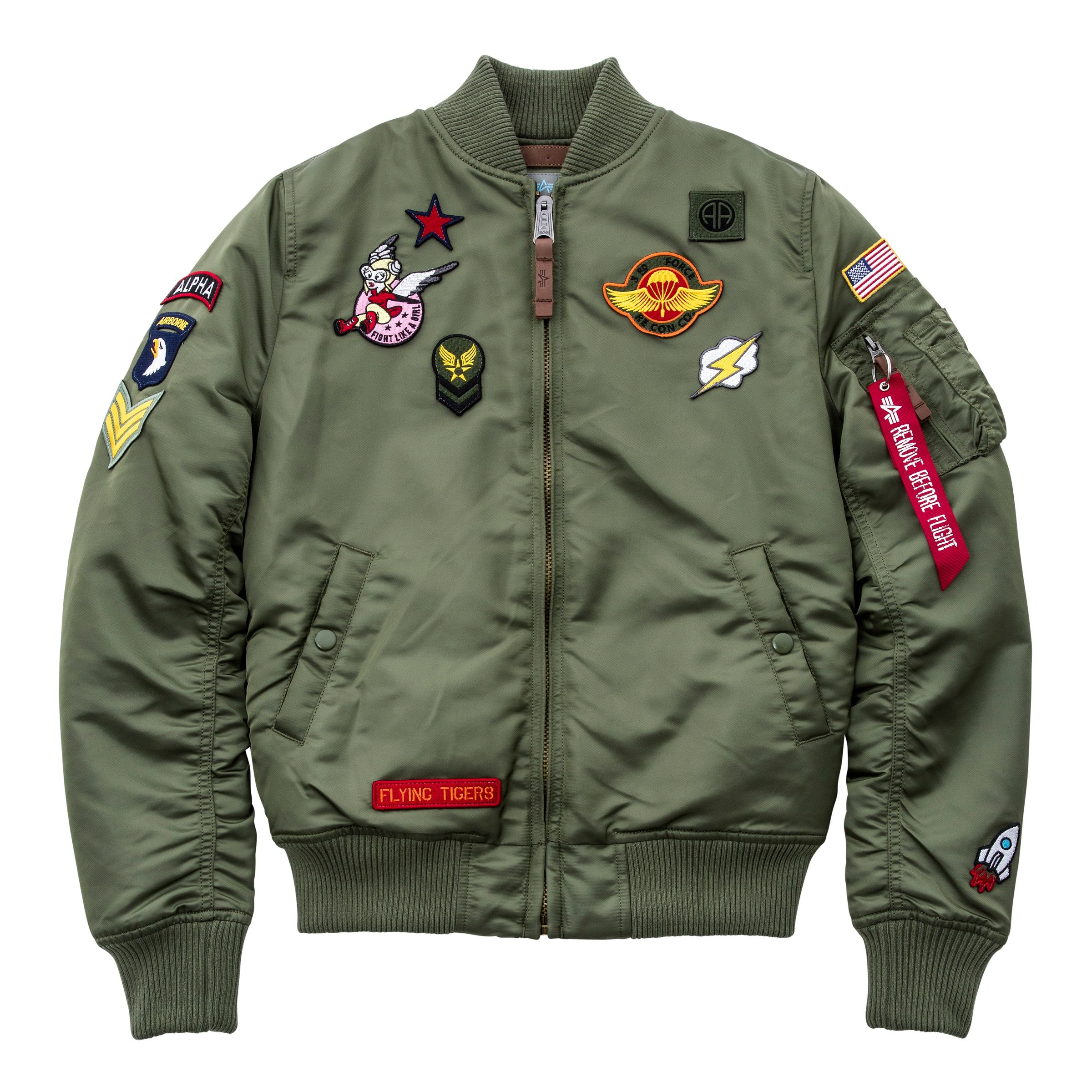 promo code 2570c ecfb8 Alpha Industries Damen Jacke MA-1 VF Patch Wmn