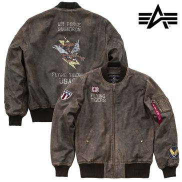 Alpha Industries Jacke MA-1 VF Flying Tigers Leather 001