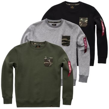 Alpha Industries Sweater Camo Pocket 001