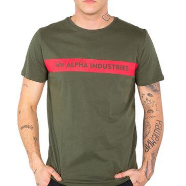 Alpha Industries T-Shirt Red Stripe T 007