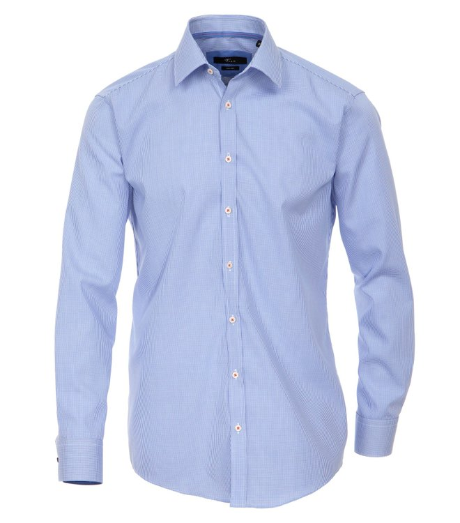 Slim Fit Business Hemd Venti Blau Kariert