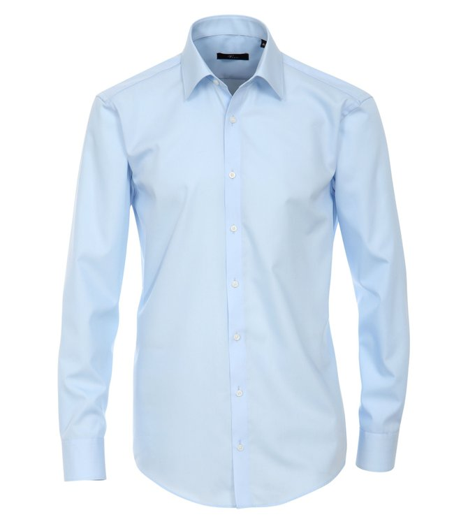 Venti Slim Fit Business-Hemd Extra Lang Hellblau