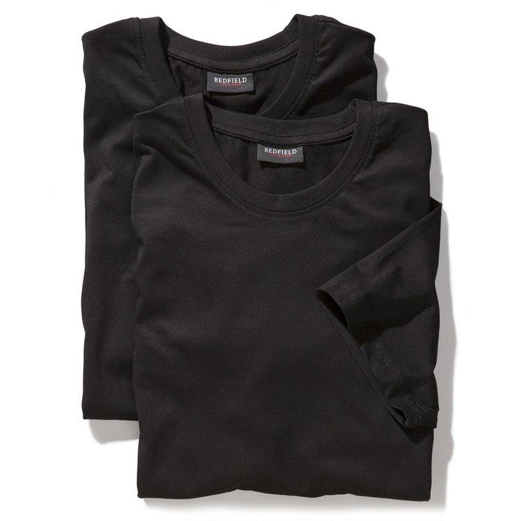 T-Shirts in Übergröße, schwarz