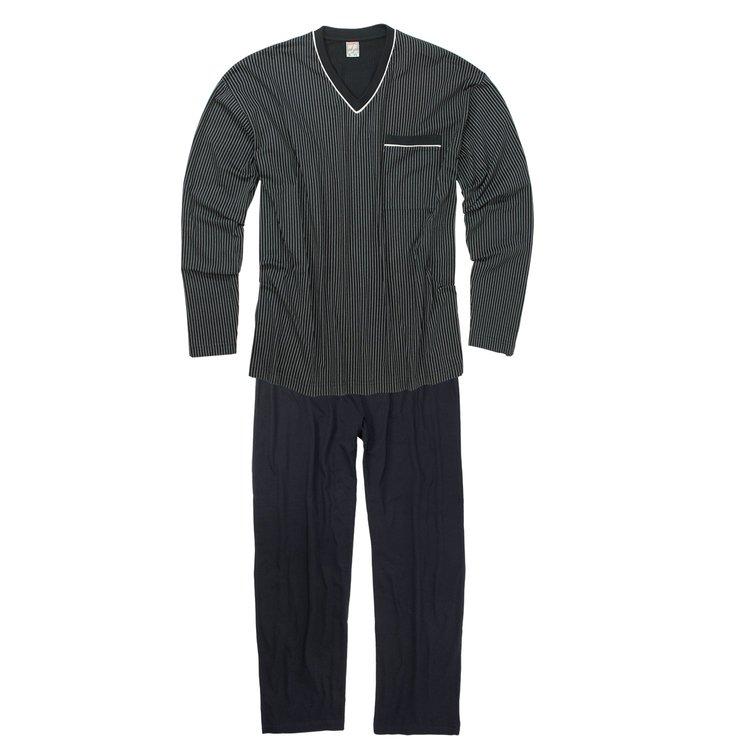 Schlafanzug Übergröße Dunkelblau Bild 2