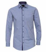 Venti Hemd extra langer Arm, Body Fit - blau bedruckt 001
