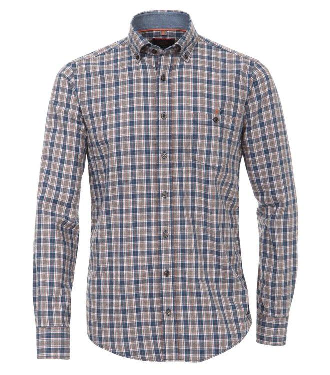 Blau kariertes Leichtflanell Hemd von Casa Moda