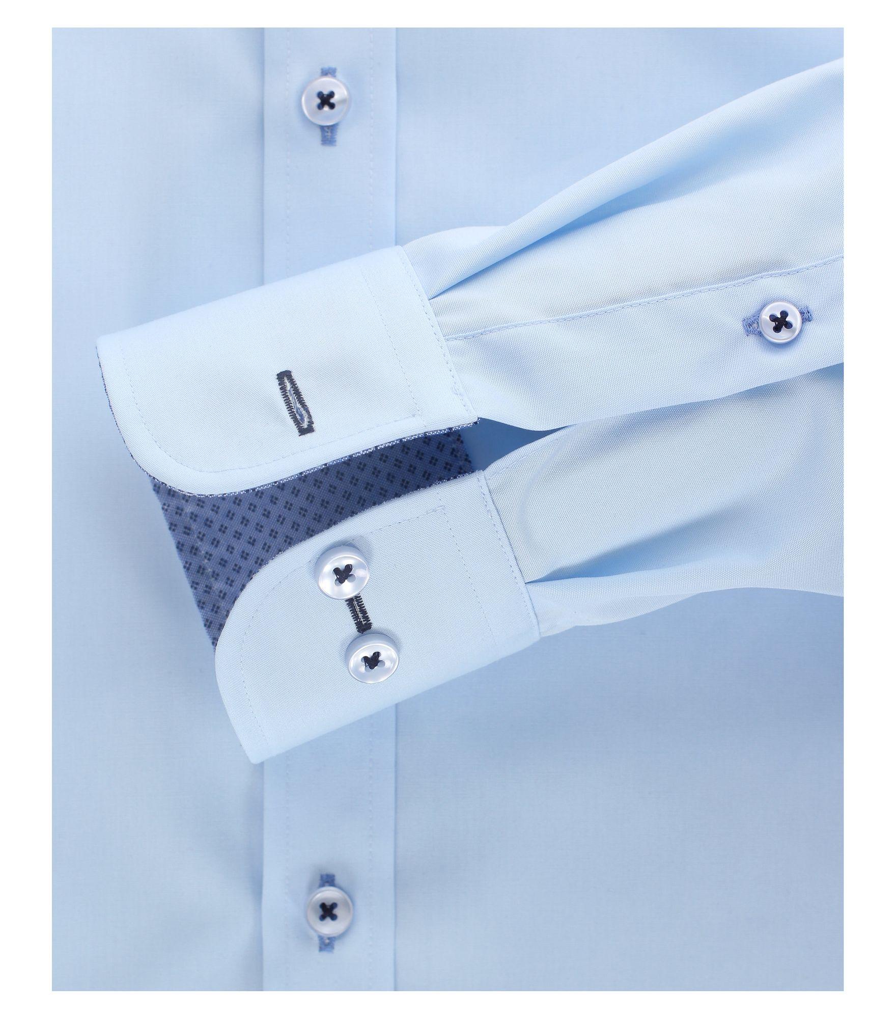 hemd extra langer arm blau casa moda 372703802 100. Black Bedroom Furniture Sets. Home Design Ideas