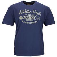 "Redfield T-Shirt ""Athletic Dept."" Blau 001"