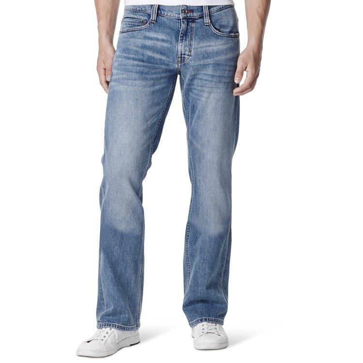 Bootcut Jeans Überlänge Blau