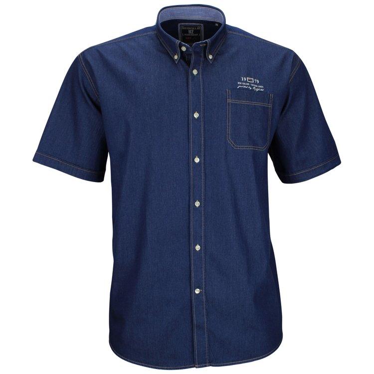 Redfield Kurzarmhemd Jeanslook Blau